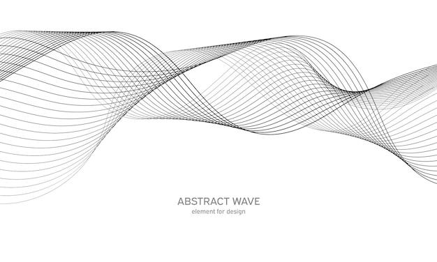 Elemento de onda abstracta. ecualizador de pista de frecuencia digital.