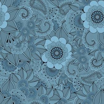 Elemento de patrón sin costuras de flor
