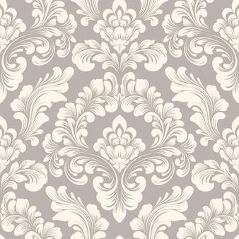 Elemento de patrón transparente damasco vector