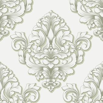 Elemento de patrón transparente damasco