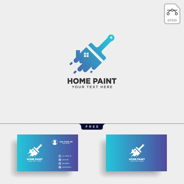 Elemento de pincel colorido logotipo plantilla vector icono de pintura