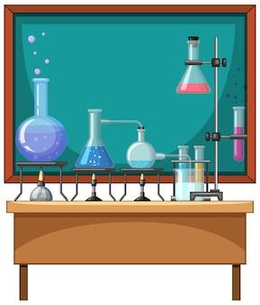 Elemento de química en la mesa