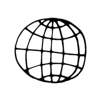 Elemento único de wi-fi y transmisión en el conjunto de negocios de doodle. ilustración de vector dibujado a mano para tarjetas, carteles, pegatinas y diseño profesional.