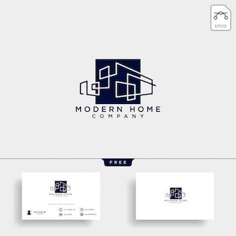 Elemento del vector del icono del diseño del logotipo del arquitecto de la construcción
