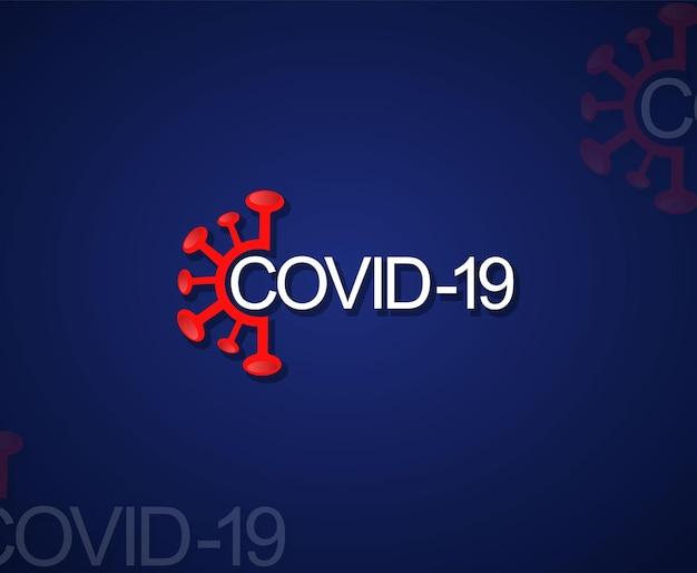 Elemento de vector del virus corona
