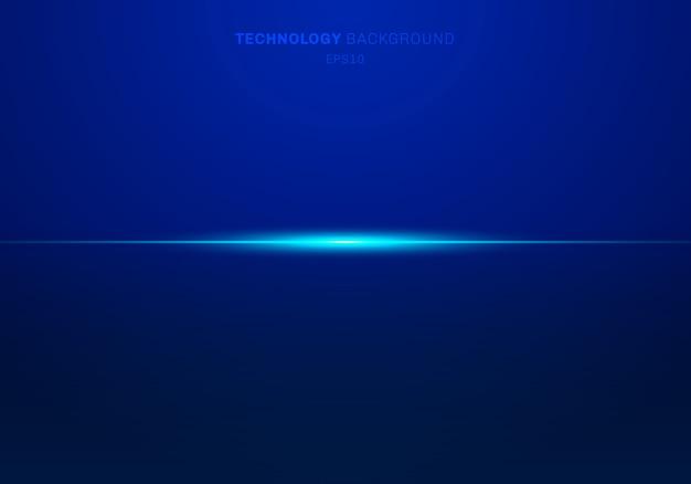 Elementos abstractos luz azul láser fondo horizontal