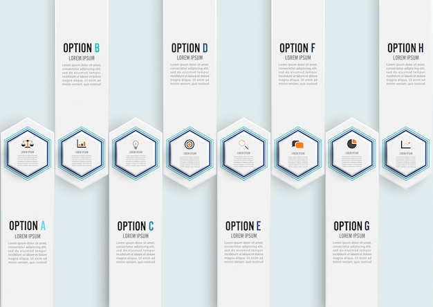 Elementos abstractos de plantilla infografía gráfica