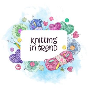 Elementos y accesorios para crochet y tejido.