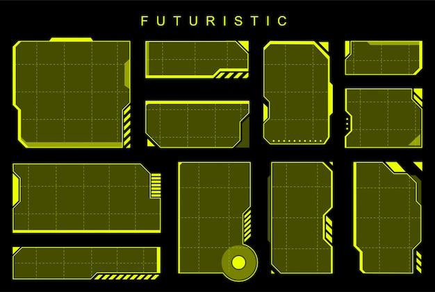 Elementos amarillos futuristas
