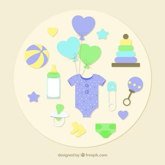 Elementos de bienvenida del bebé