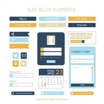 Elementos de blog modernos