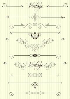 Elementos caligráficos y decoración de la página.