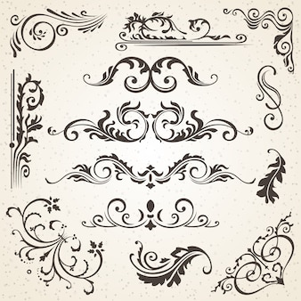 Elementos caligráficos y decoración de página.