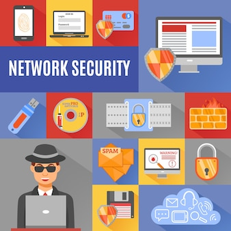 Elementos y carácter de seguridad de red.