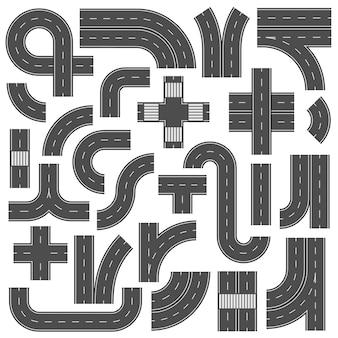 Elementos de carretera de carretera conectables