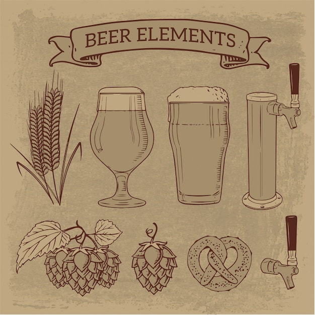 Elementos de cerveza