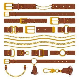 Elementos de cinturones y cadenas