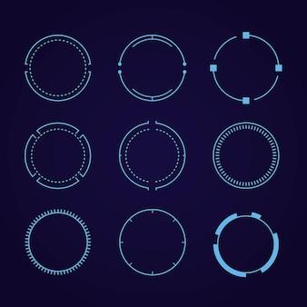 Elementos de círculos para una interfaz de pantalla táctil futurista