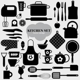 Elementos de cocina negros