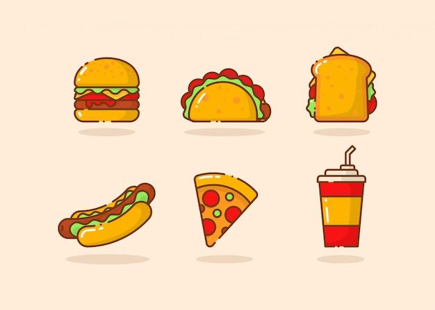 Elementos de comida rápida