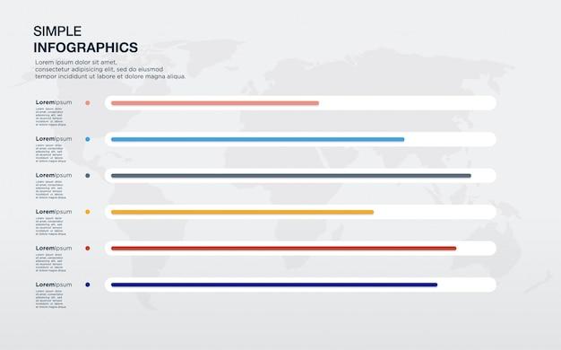 Elementos de comparación de infografía distinguidos por color.