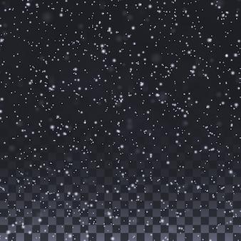 Elementos de copo de nieve para invierno y navidad