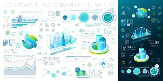 Elementos corporativos de infografía