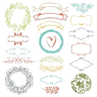 Elementos de diseño decorativo