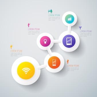 Elementos de infografía empresarial para la presentación