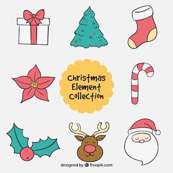 Elementos de navidad con estilo adorable