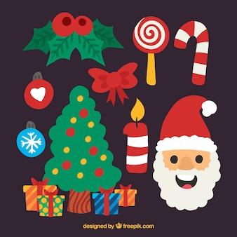 Elementos de navidad con estilo divertido