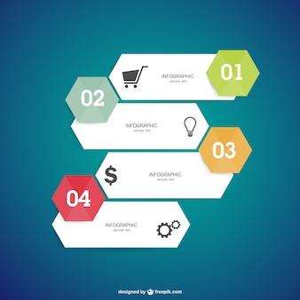 Elementos de opción para infografía