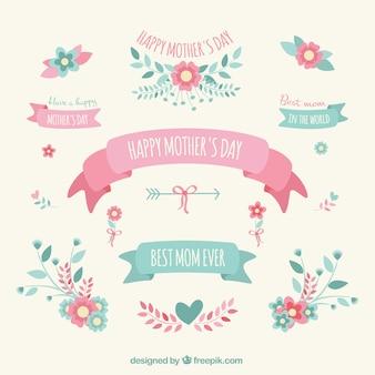 Elementos decorativos del día de la madre