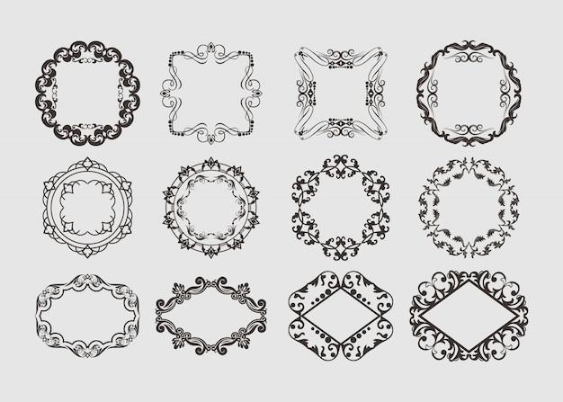 Elementos decorativos del marco