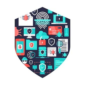 Elementos decorativos de seguridad informática