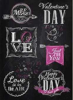 Elementos del día de san valentín