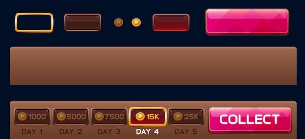 Elementos de días para juegos de tragamonedas