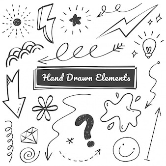 Elementos dibujados a mano