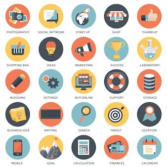 Elementos de diseño para aplicaciones móviles y web.