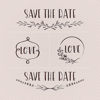 Elementos de diseño para boda