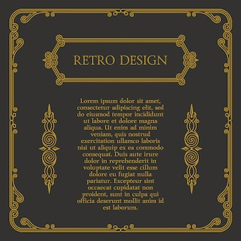 Elementos de diseño caligráfico vintage y marcos y símbolos