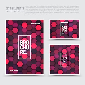 Elementos de diseño: flyer, tarjeta, banner.