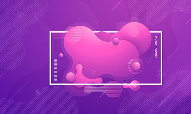 Elementos de diseño de gradiente líquido líquido púrpura de moda.