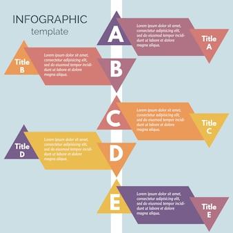 Elementos de diseño infográfico de cinco pasos. plantilla de diseño de infografía paso a paso. ilustración vectorial