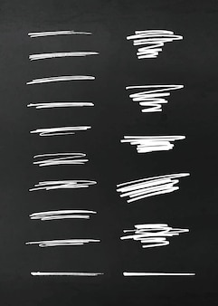 Elementos de diseño de lápiz de vector