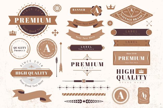 Elementos de diseño de logo y banner.