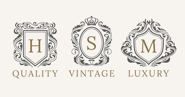 Elementos de diseño de logotipo de caligrafía de lujo
