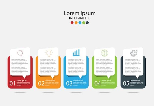 Elementos de diseño moderno para negocios.