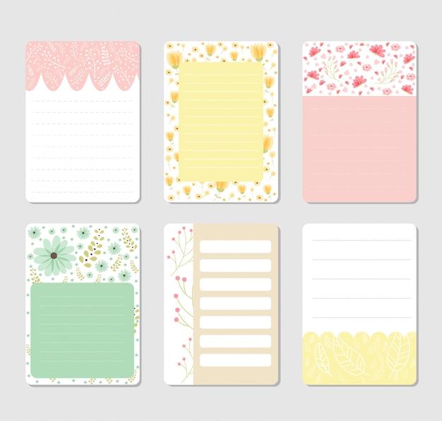 Elementos de diseño para notebook.