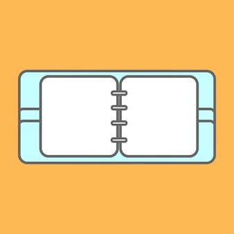 Elementos de diseño plano de los iconos de línea. pictograma de vector moderno de bloc de notas.
